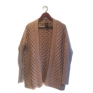 Anne Taylor honeycomb knit oversized cardigan